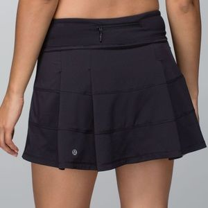 Lululemon Pace Rival Skirt Size 10 Black